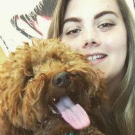 Kaysha with Elvis the Miniature Goldendoodle