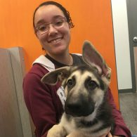 Shelby with Aspen the German Shepherd