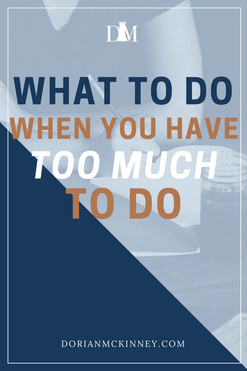 Too much to do, not enough time. This is a perpetual problem for a lot of people. Here are some approaches that have helped me and others to turn down the dial on overwhelm.