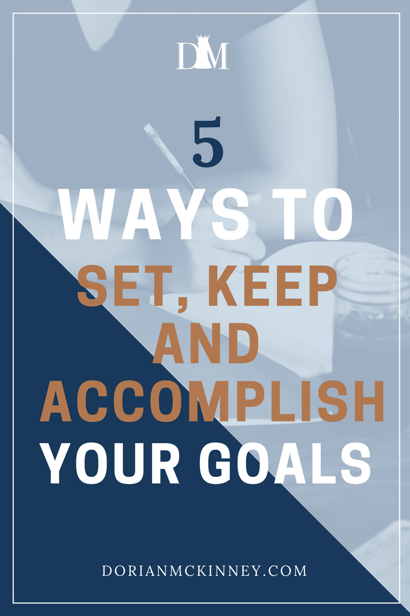 Everyone has dreams. Whether they are big or small, they have vast importance in our lives. Here are 5 simple steps to setting, keeping and accomplishing goals and making sure it is inevitable that you will achieve them.
