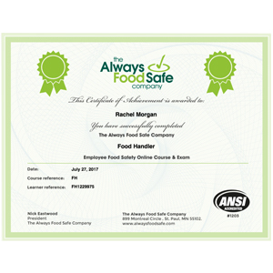 food-safety-certification-courses