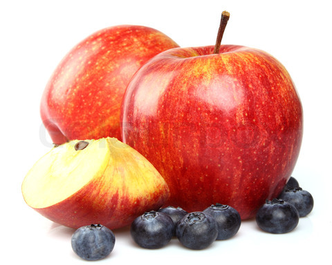 Apples with blueberry