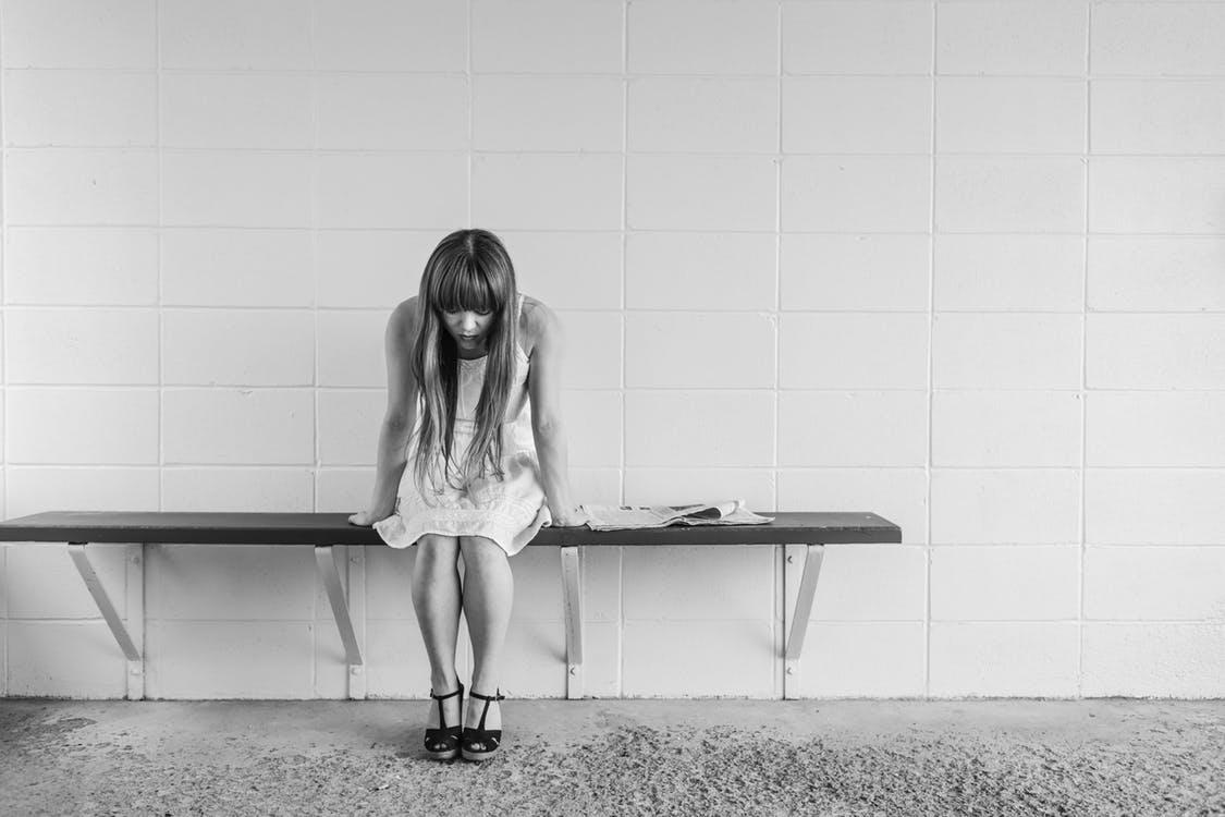 black-and-white-woman-girl-sitting mental health