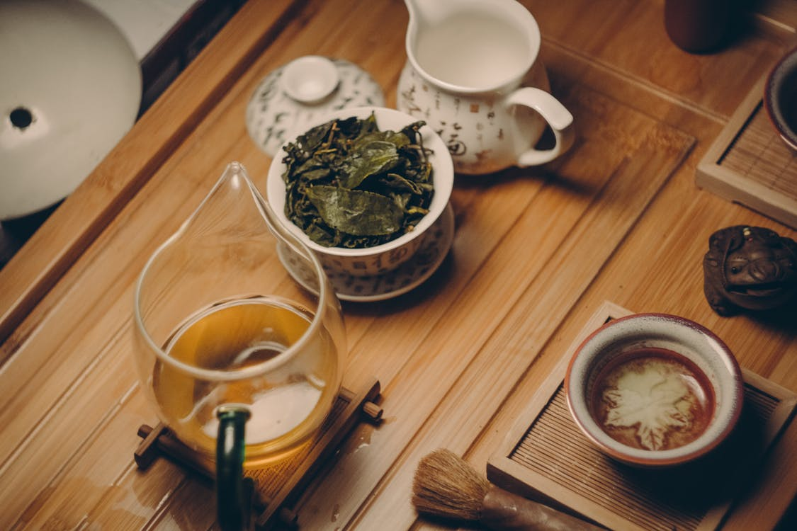 tea brewing health table