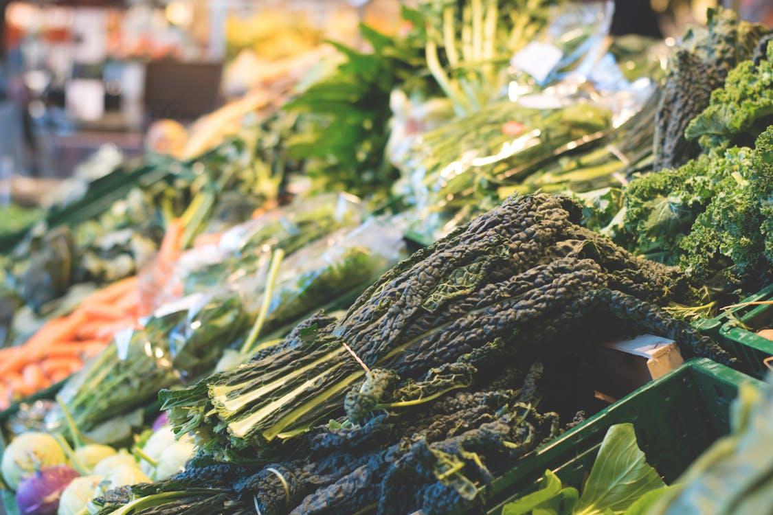 greens kale market dark leafy