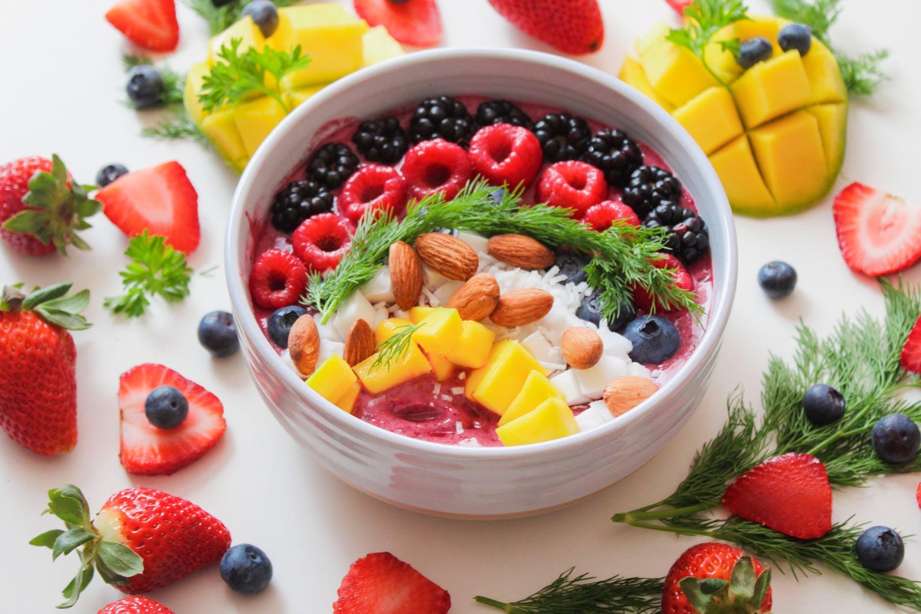 fruit fiber berries bowl breakfast