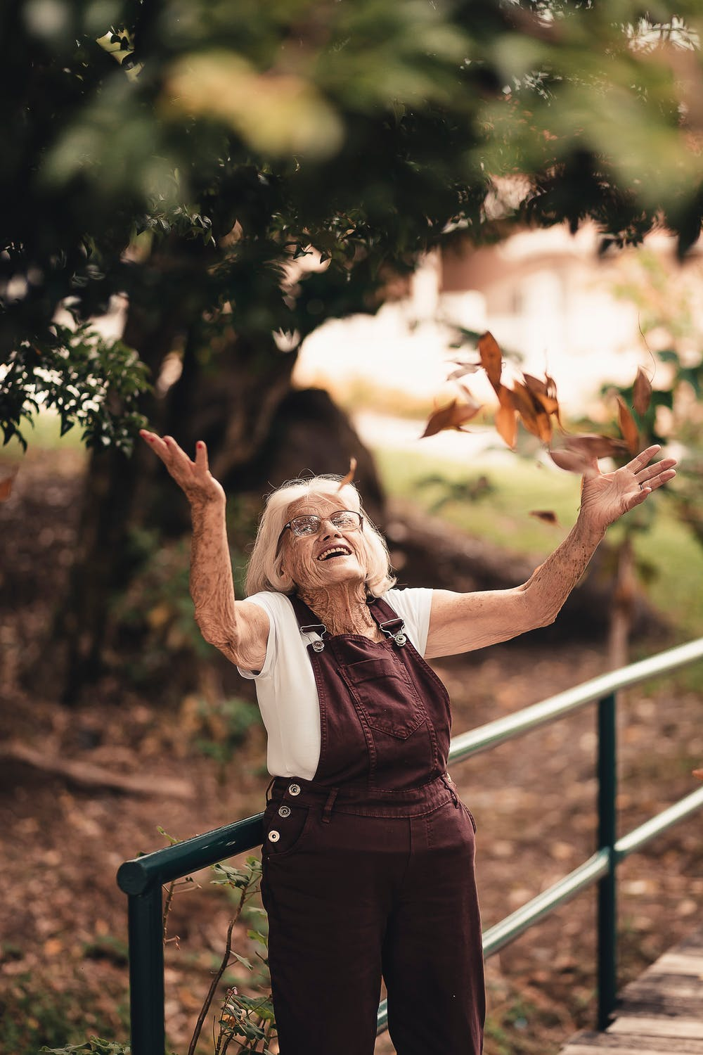 grandma elder happy nature