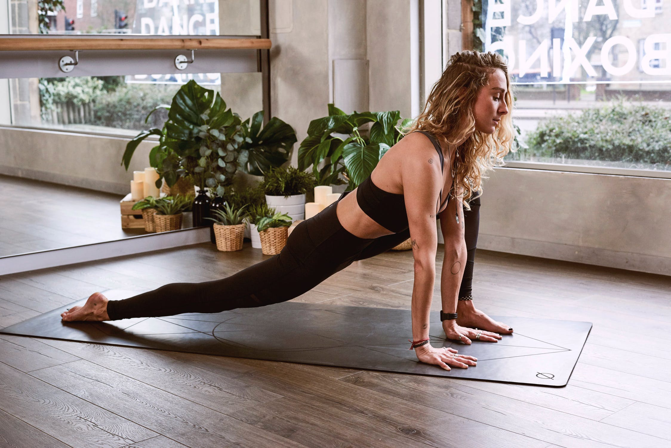 yoga exercise movement girl