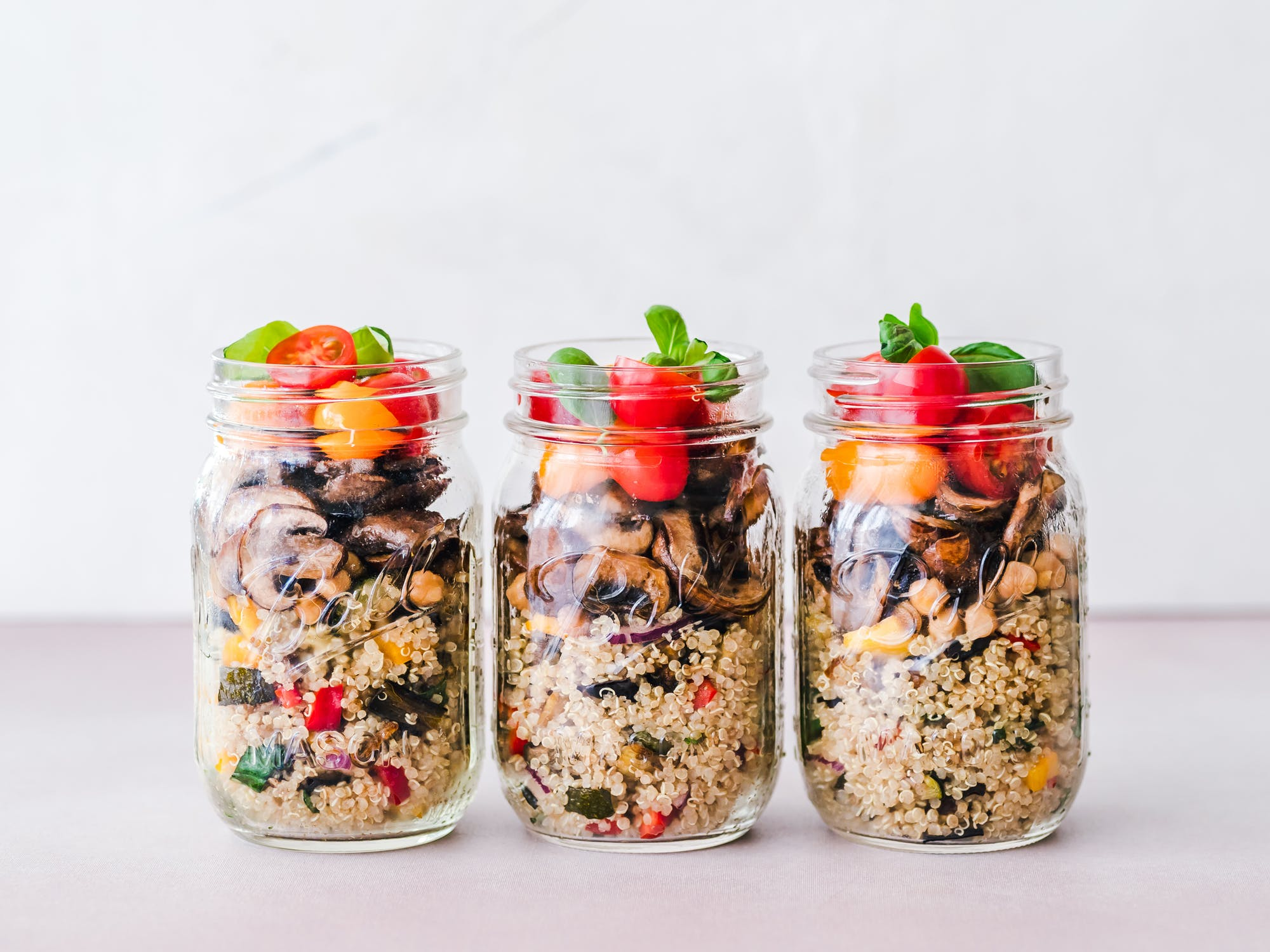 healthy good quinoa weigh less recipe jars