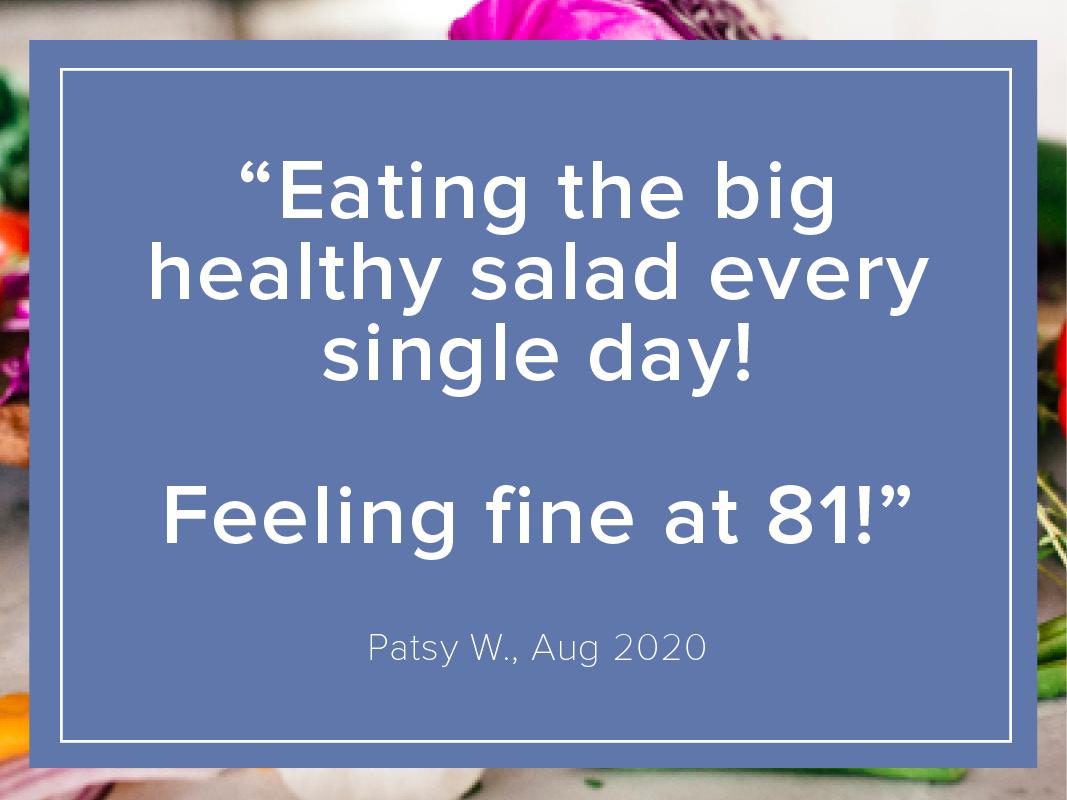 Patsy feeling fine