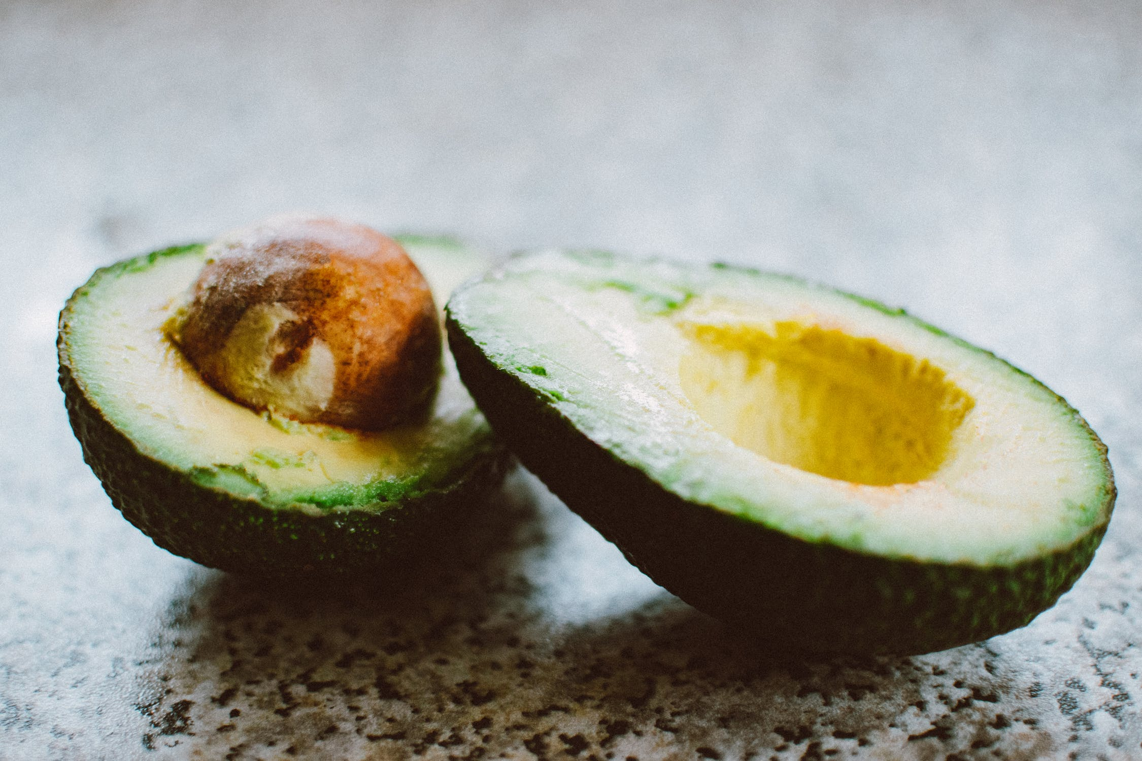 avocado sliced two healthy fat