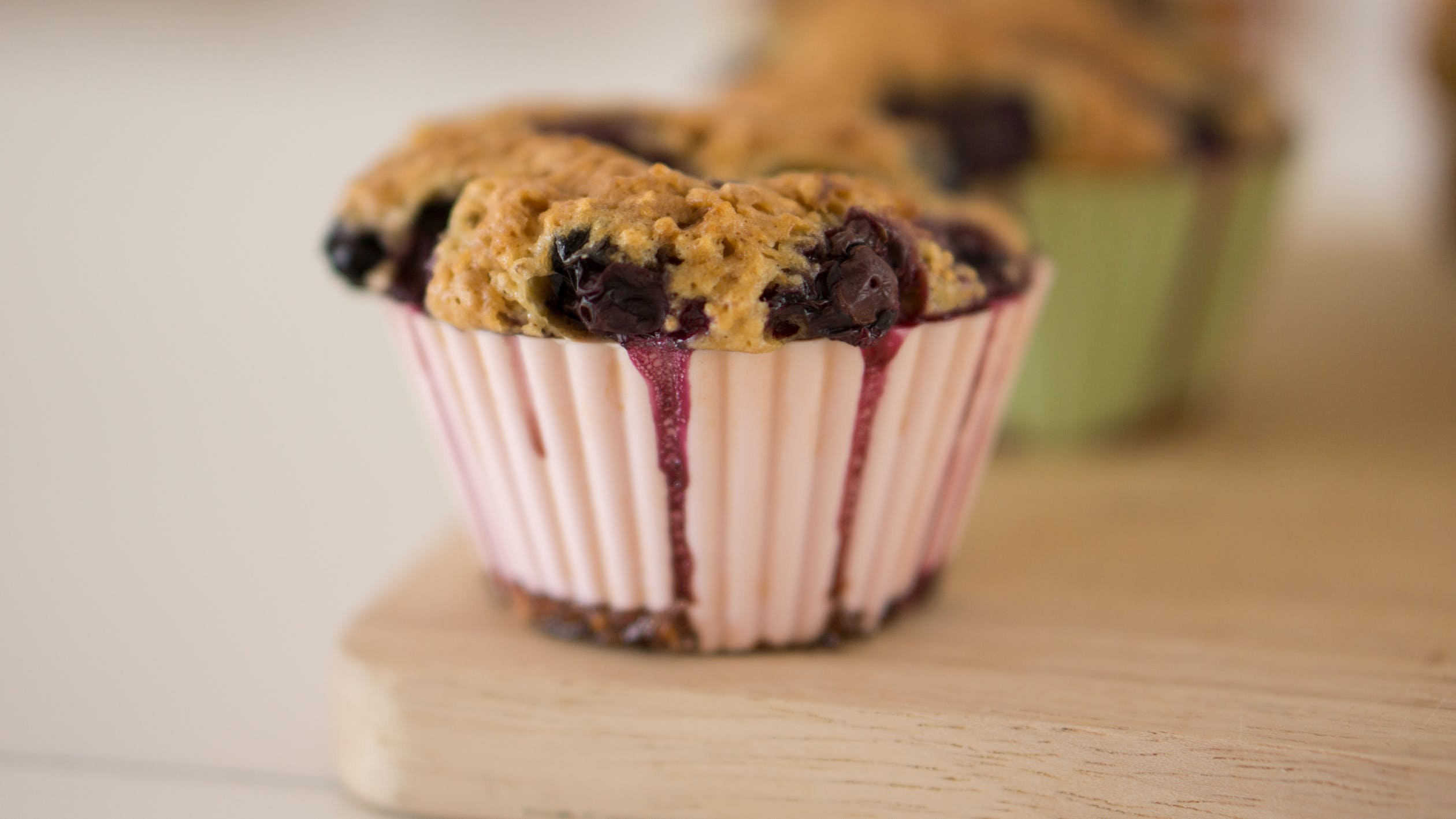 muffins blueberries oats