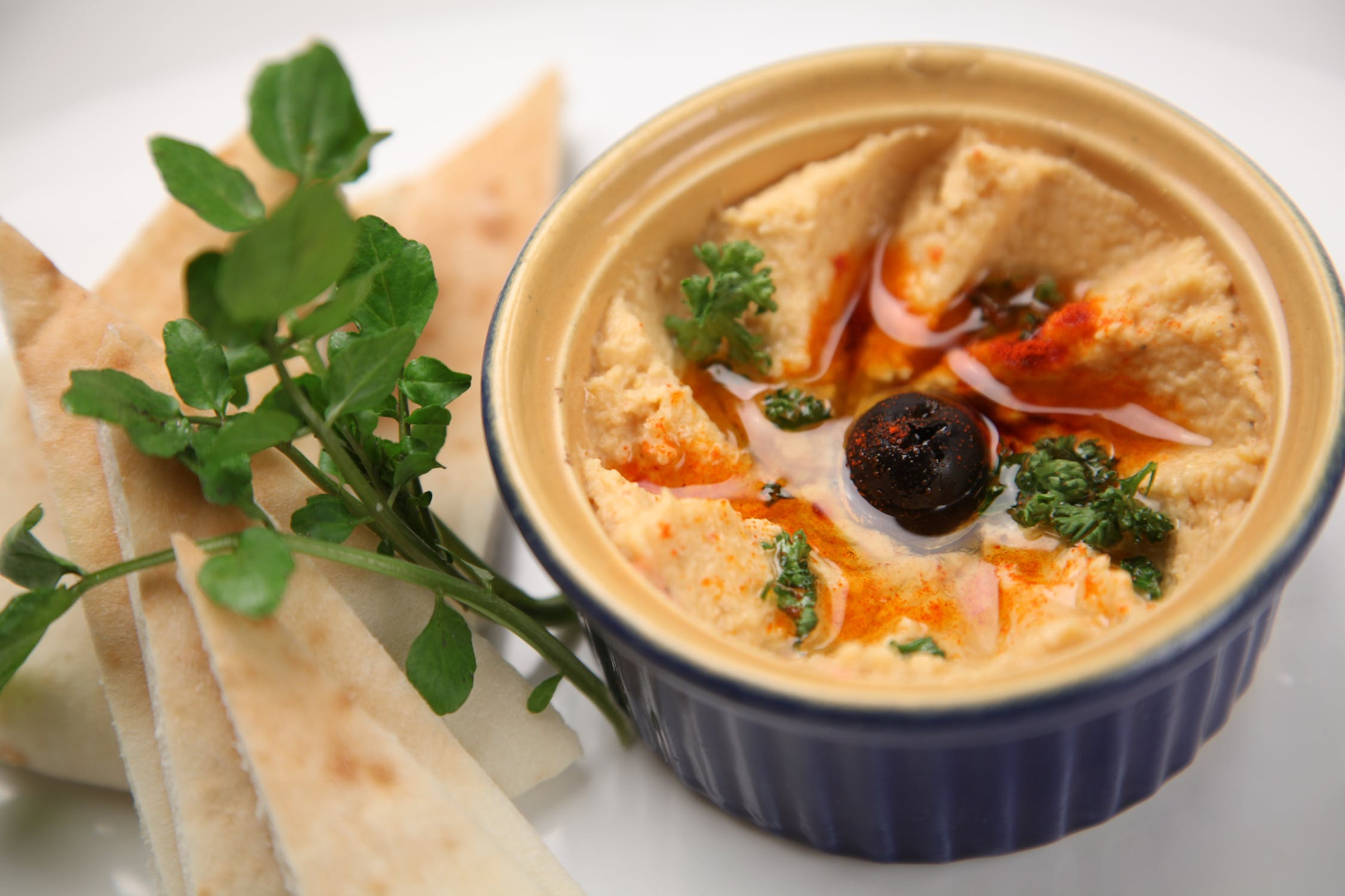 Hummus olive dip
