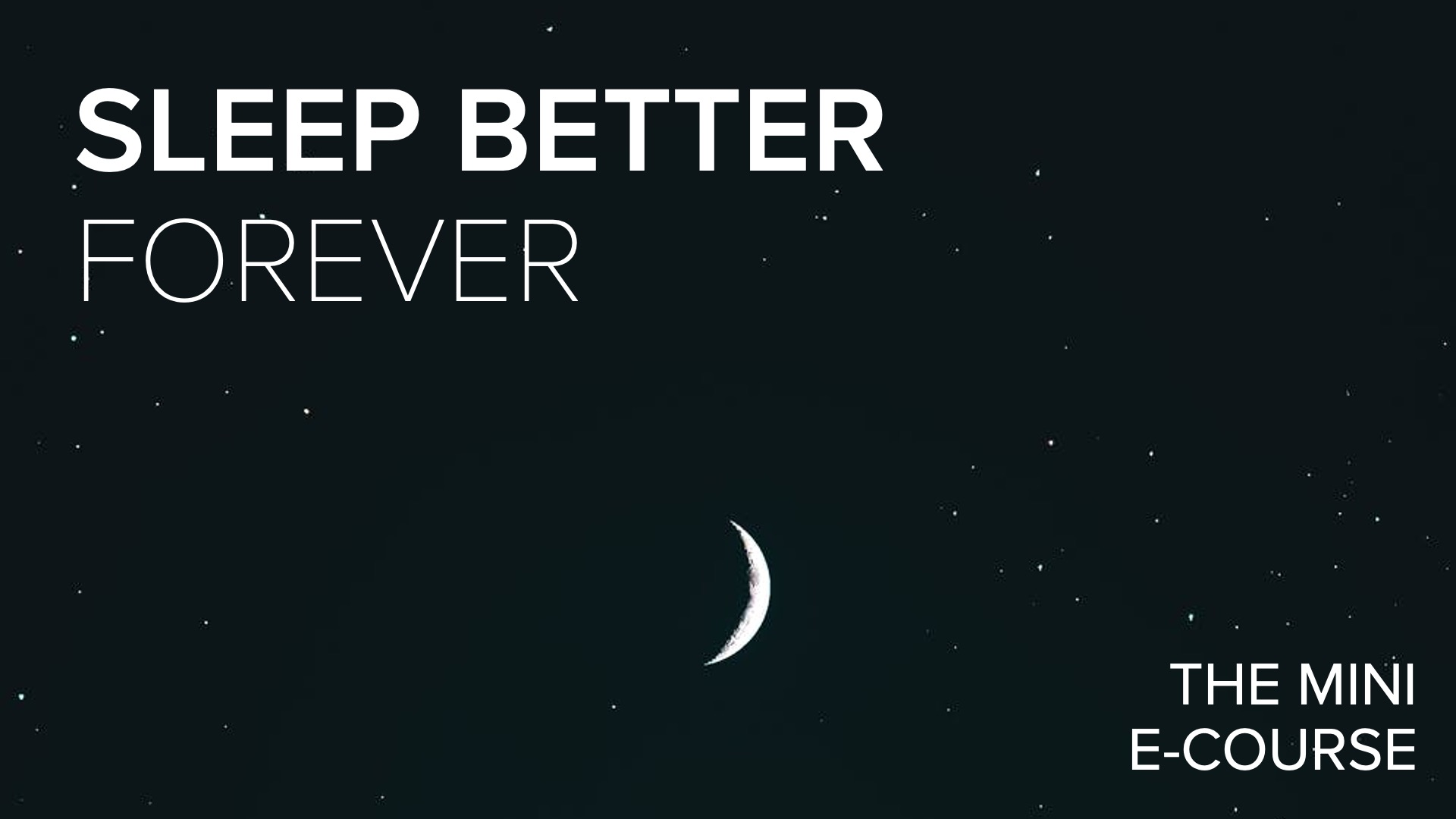 Sleep Better Title Slide