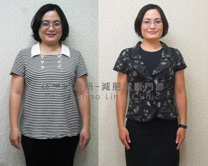 產後瘦身案例55.3kg