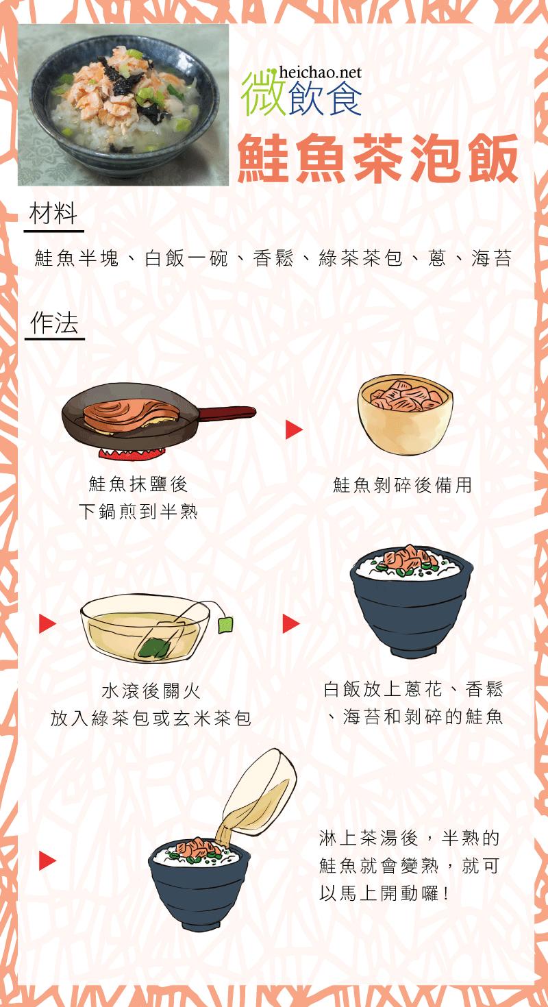 鮭魚茶泡飯食譜