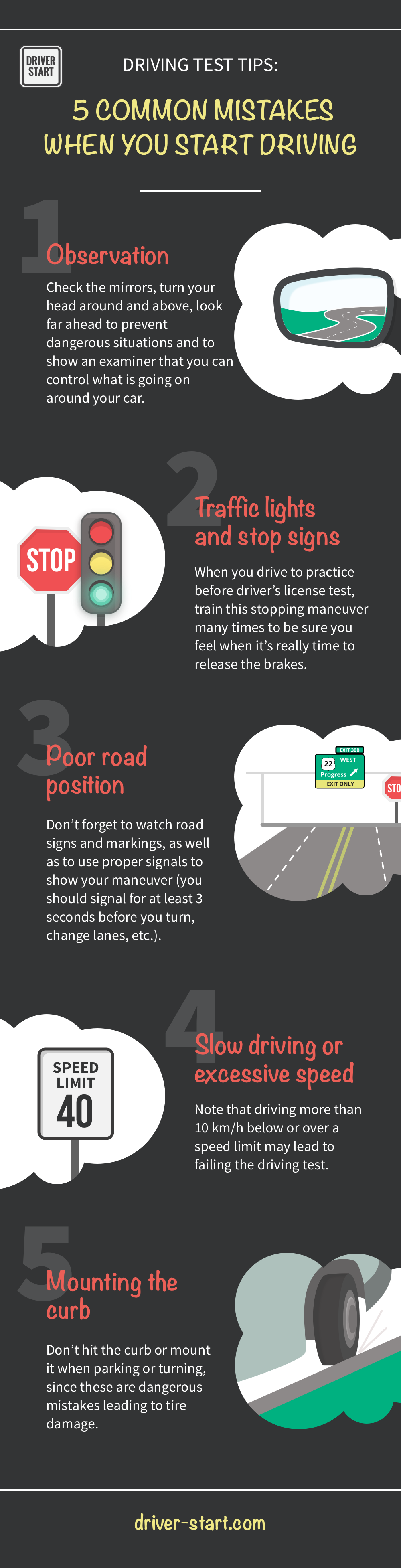 5 common mistakes when you start driving