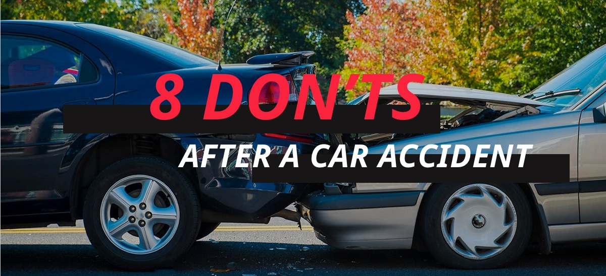 8 Don'ts after a Car Accident - driver-start.com
