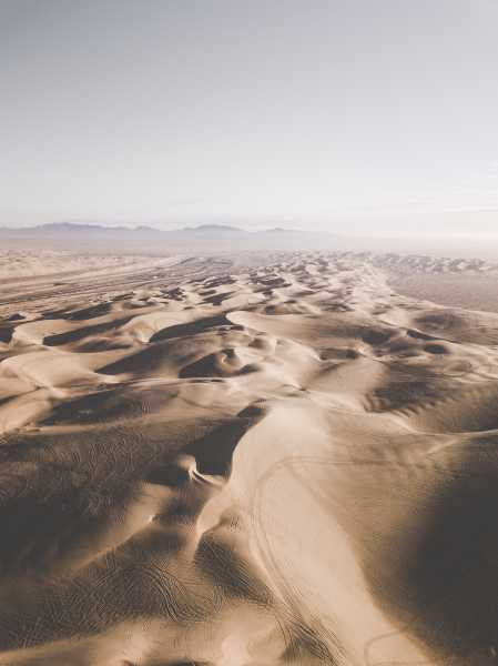 Drone Photo Algodones Dunes Ca