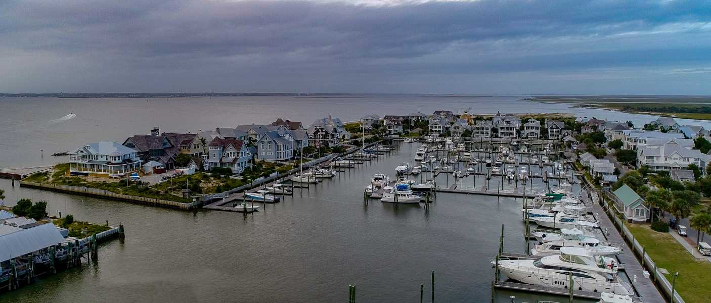Drone Photo Bald Head Island NC