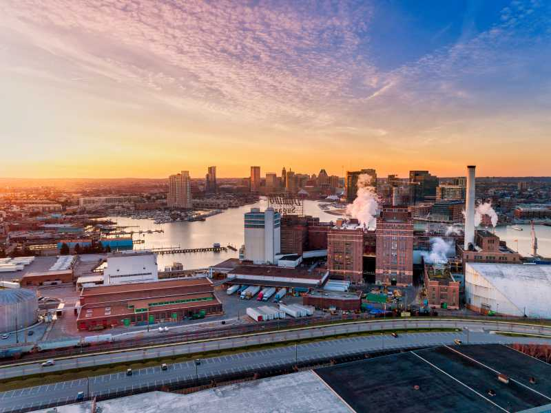 Drone Photo Baltimore MD