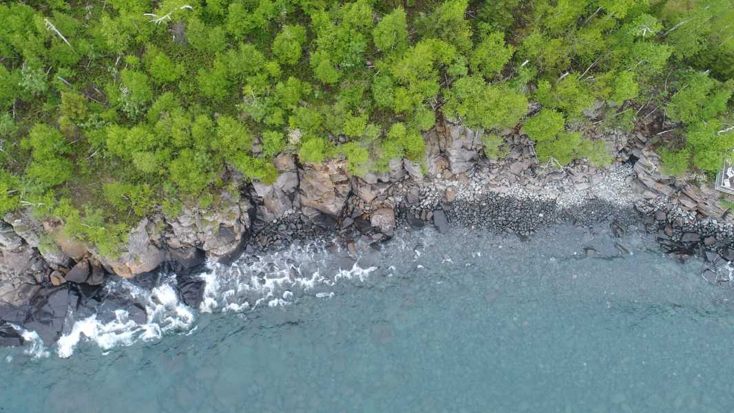 Drone Photo Beaver Bay Township MN