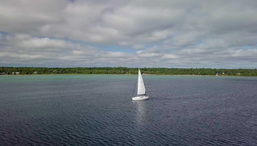 Drone Photo Beaver Island MI