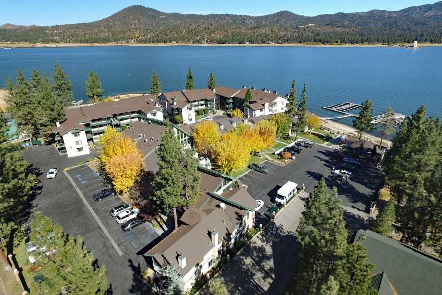 Drone Photo Big Bear Lake CA