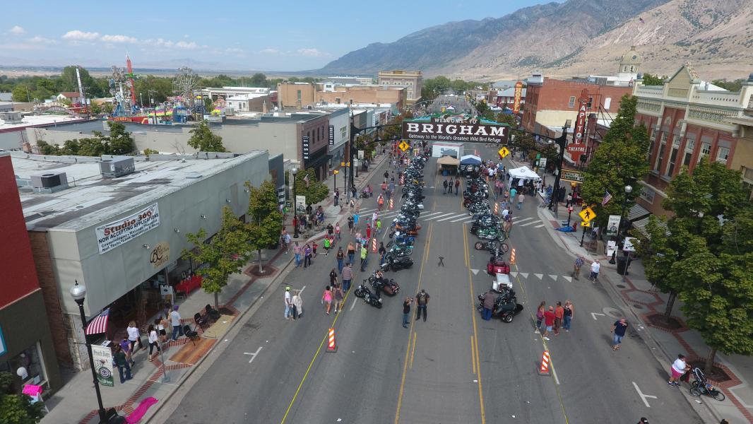 Drone Photo Brigham City UT