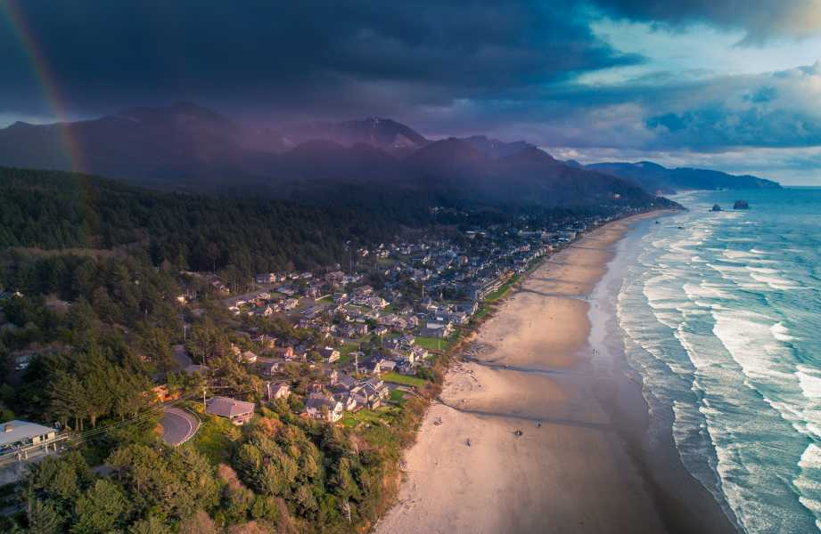 Drone Photo Cannon Beach OR