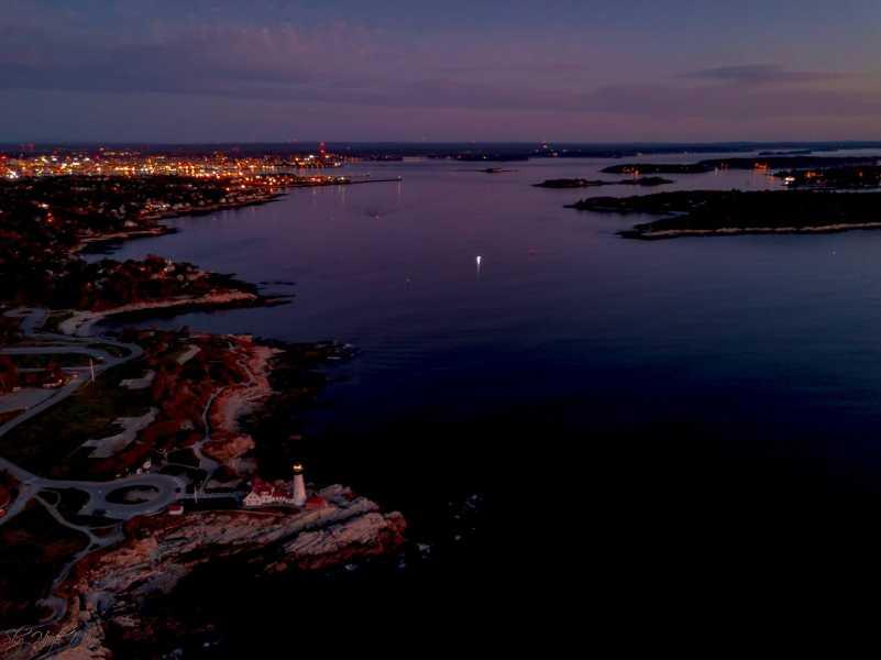 Drone Photo Cape Elizabeth ME
