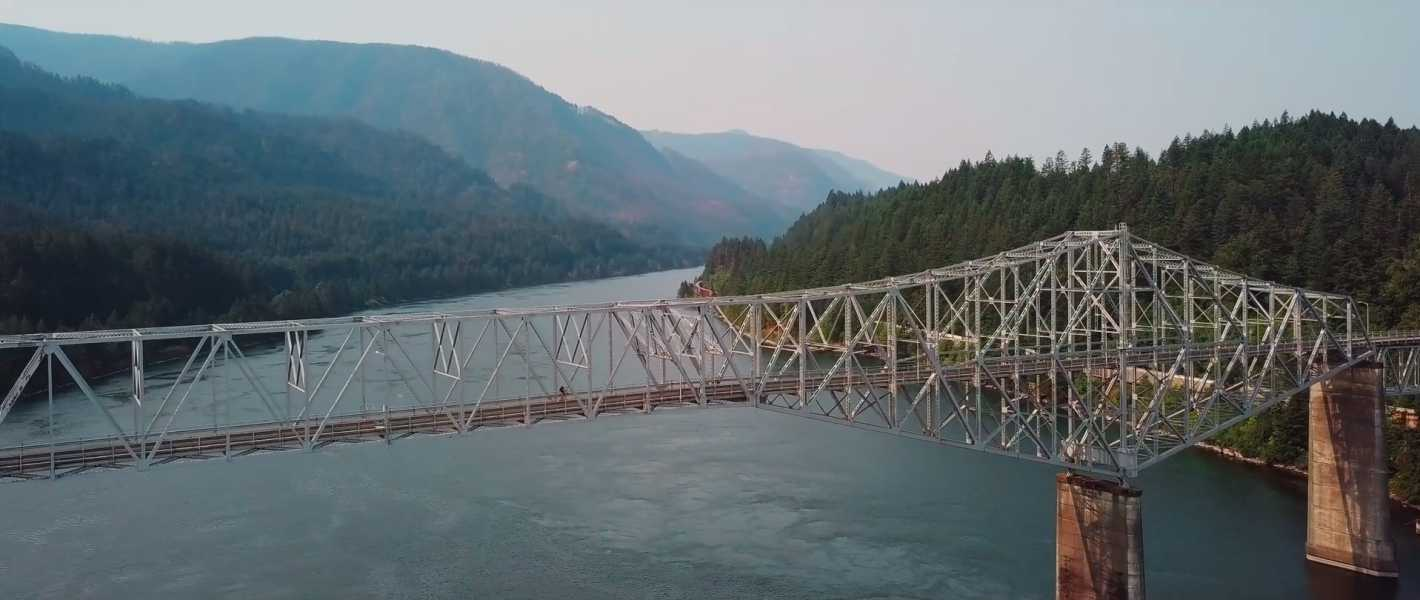 Drone Photo Cascade Locks OR