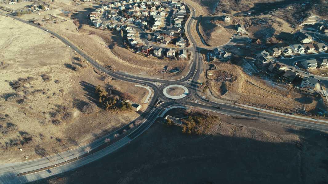 Drone Photo Castle Rock CO