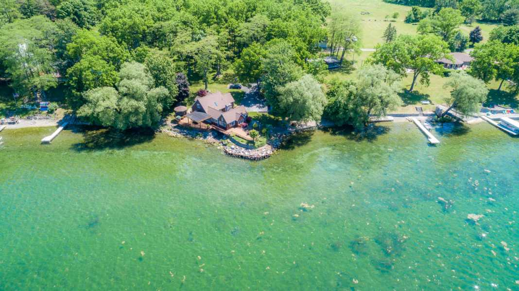 Drone Photo Cayuga Lake Ne