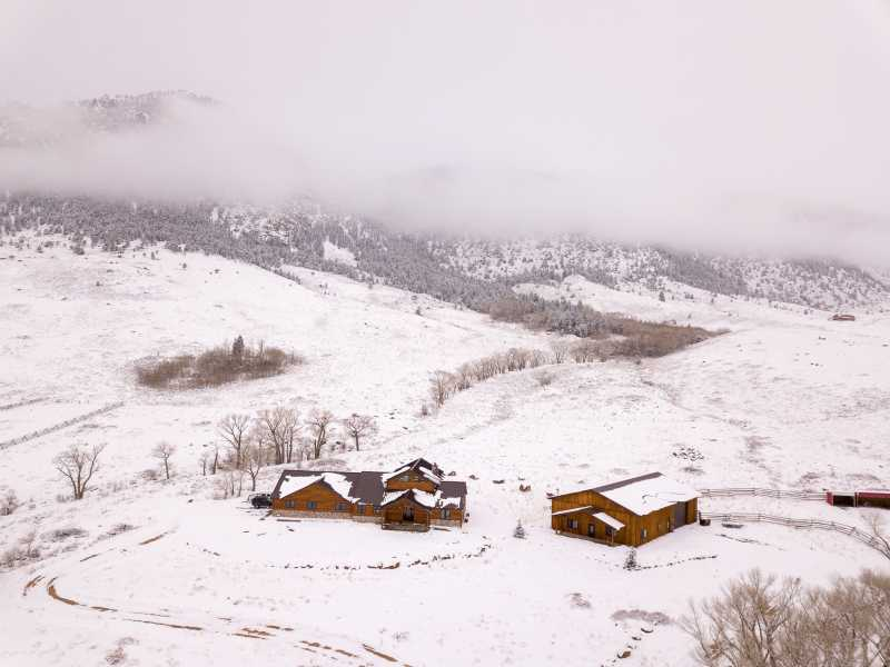 Drone Photo Centennial WY