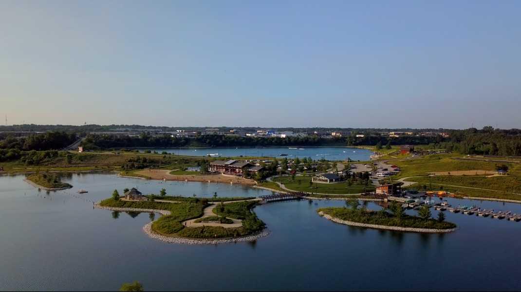 Drone Photo Crystal Lake IL