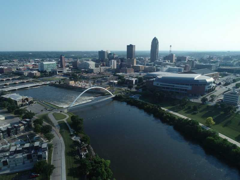 Drone Photo Des Moines IA