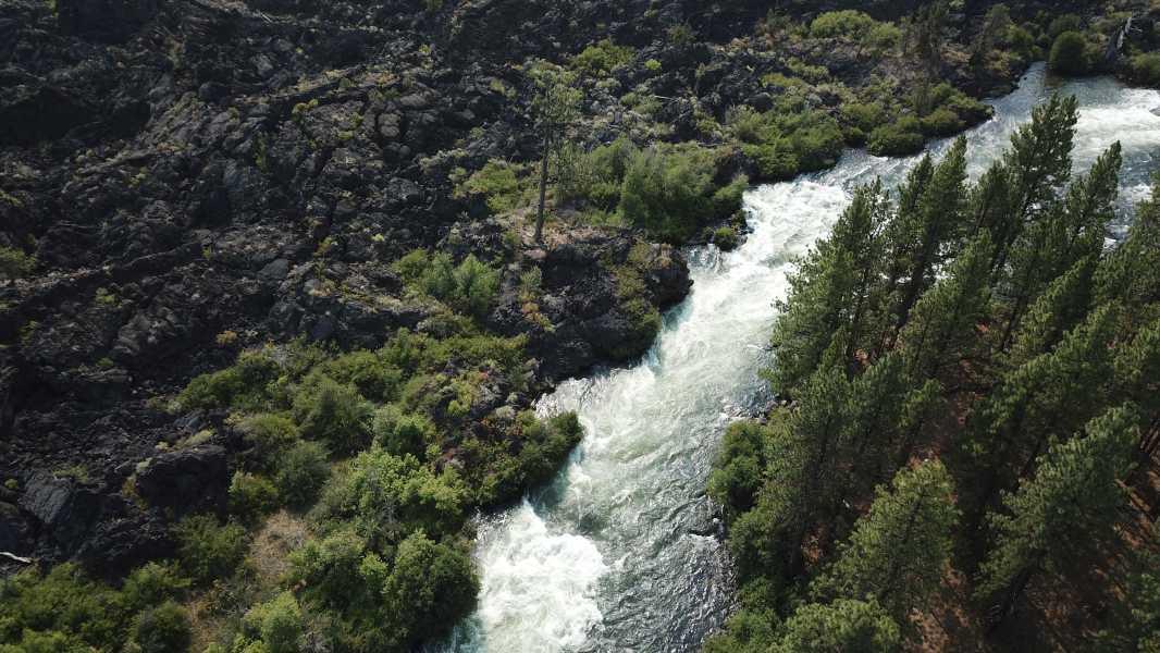 Drone Photo Deschutes River Or