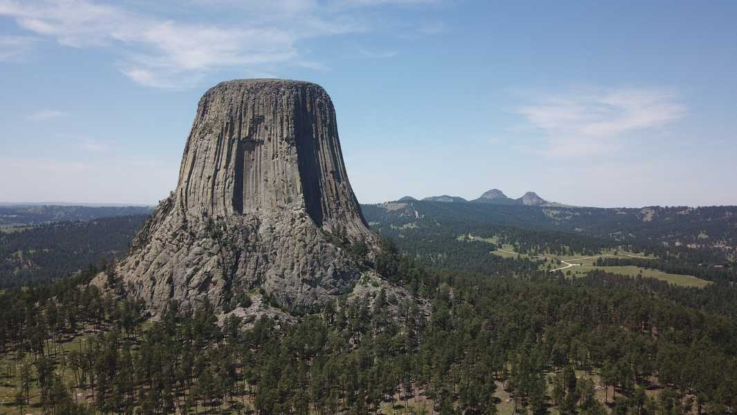 Drone Photo Devils Tower WY