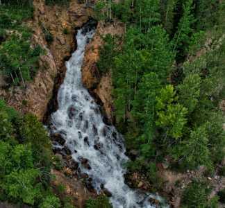 Drone Photo Estes Park CO