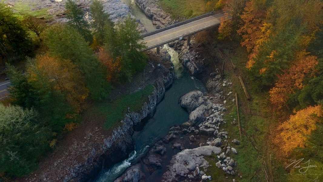 Drone Photo Fall Creek OR