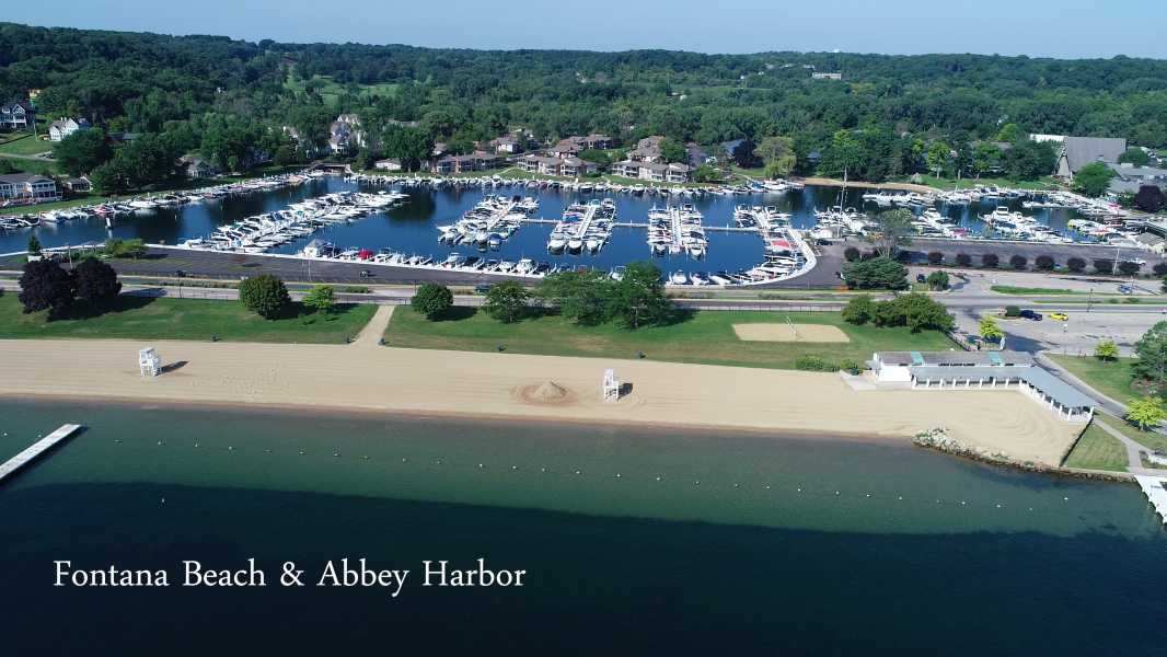 Drone Photo Fontana-On-Geneva Lake WI