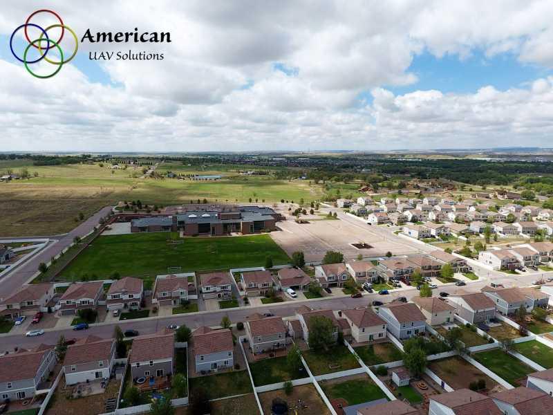 Drone Photo Fountain CO