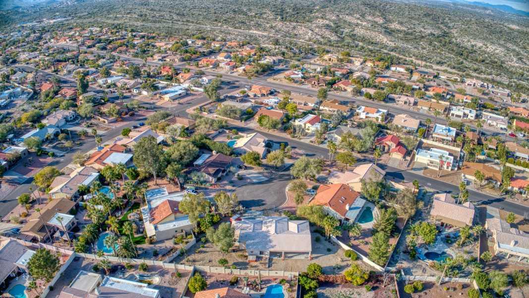 Drone Photo Fountain Hills AZ