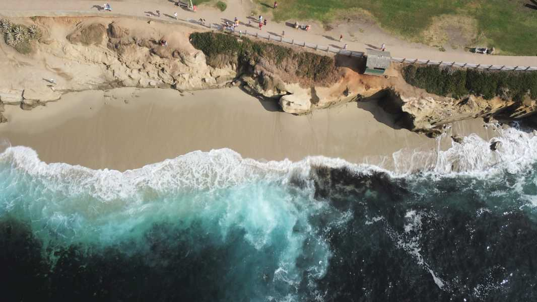 Drone Photo La Jolla Cove Ca