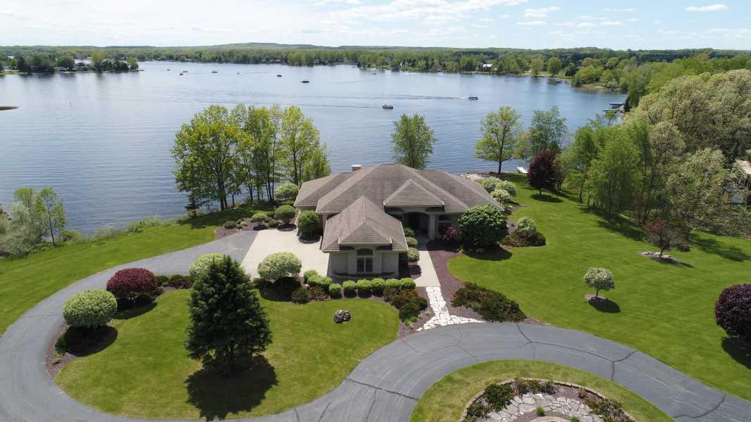 Drone Photo Lake Isabella MI