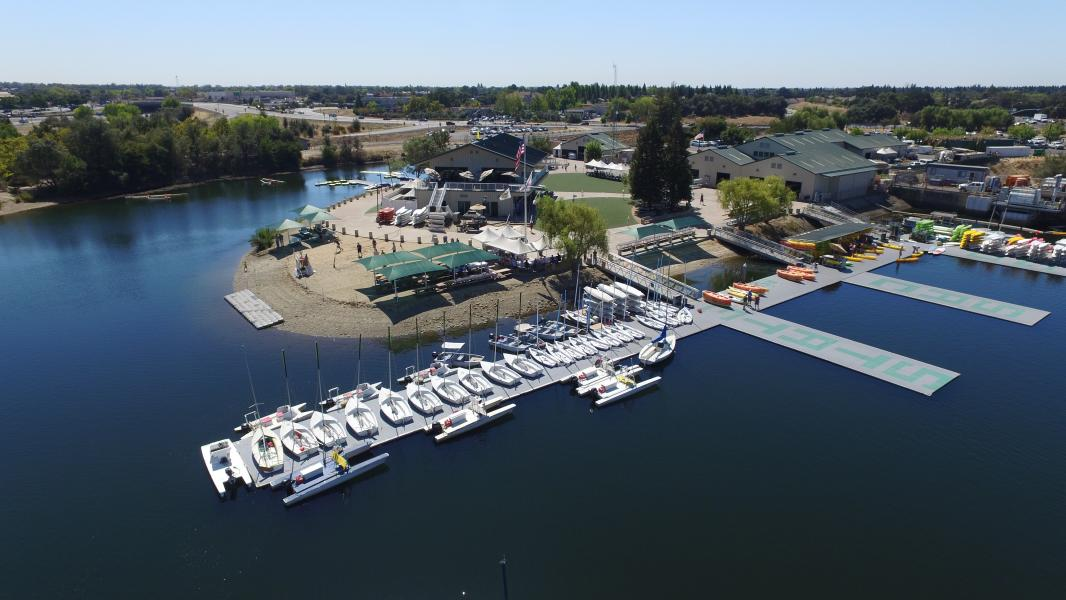 Drone Photo Lake Natoma Ca