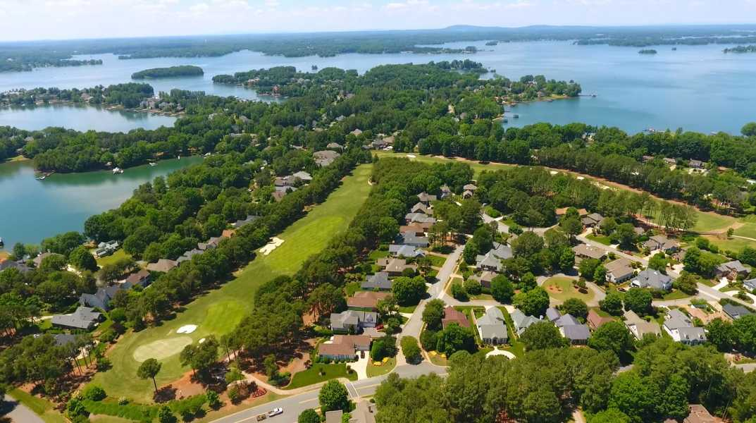 Drone Photo Lake Norman of Catawba NC