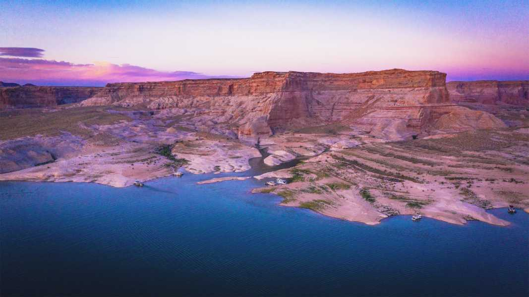 Drone Photo Lake Powell AZ