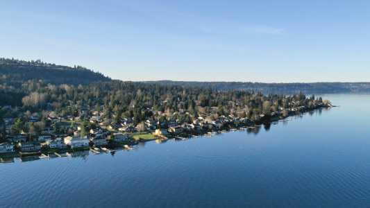 Drone Photo Lake Sammamish Wa